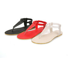 Women Girls Fashion Ankle Elastic Thongs Flip Flops Flat Sandals Shoe Causal Hot