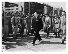 WWII French Liberation Leaders Review Troops In Marseille Silver Halide Photo