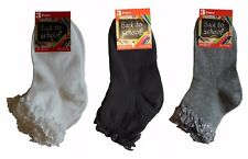 12 Pairs Girls Back To School Socks Cotton Anklet Ankle Lace Top Frill Sock Size