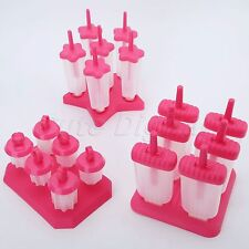 Useful 6 Cells Ice Cream Mold Frozen Popsicle Mould Maker Pan Kitchen DIY Tool