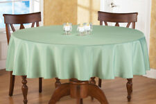 70 Inch Round Solid Colored Tablecloth, 100% Durable Polyester