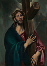 """El Greco : """"Christ Carrying the Cross"""" (c.1577-1587) — Giclee Fine Art Print"""