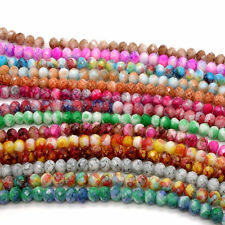 Wholesale 40pcs Faceted Rondelle Charms Glass Loose Spacer Beads DIY 8mm #2