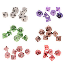 7Pcs/Set 15mm Multi-sided Dice Game D4-D20 for D&D TRPG Party Game Dice Toys