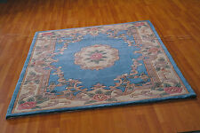 LOTUS PREMIUM SMALL- X LARGE BLUE SOFT CHUNKY THICK LUXURY 100% WOOL CHINESE RUG
