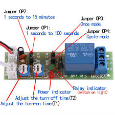 DC 5/12/24V Adjustable Cycle Trigger Delay Timing Timer Relay On/Off Switch Hot.