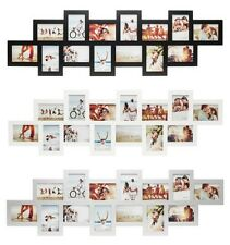 Picture Frame for 14 Photos with Glass Panes Wooden Photo Frame Collage Gallery
