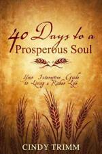 40 DAYS TO A PROSPEROUS SOUL - TRIMM, CINDY - NEW PAPERBACK BOOK