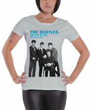 The Beatles You Cant Buy Me Love Official Womens New Grey skinny fit T Shirt