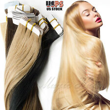 Luxury Blonde Tape in Remy Real 100% Human Hair Extensions Virgin 16/18/20/22""