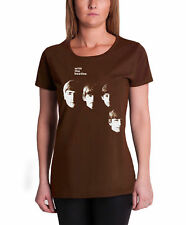 The Beatles With The Beatles Official Womens New Brown skinny fit T Shirt