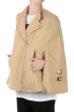 GIVENCHY New Woman Beige Cotton Blend Jacket Zip Vintage Effect NWt