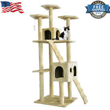 "All Color 73"" Cat Tree Scratcher Play House Condo Furniture Bed Post Pet House"
