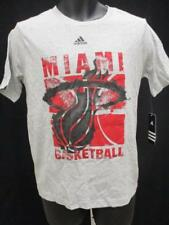 New Miami Heat Youth Size S/M/L/XL 8 10/12 14/16 18 Adidas Gray Shirt MSRP $20