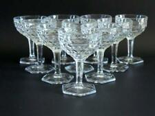 10 FOSTORIA AMERICAN FOOTED SHERBET OR WINE GOBLETS~VINTAGE~CRYSTAL CLEAR~