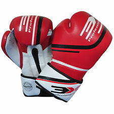 Leather Boxing Gloves MMA Training Muay Thai Fight Punch Bag Sparring 3X Sports