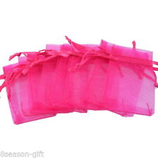 Wholesale HX  5cm x7cm Fushcia Organza Gift Bags Wedding/Christmas Favor