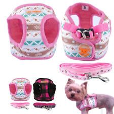 Pet Puppy Small Dog Harness and Leash set for Puppies Chihuahua Terrier Pink