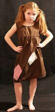 VICTORIAN PINNY Annie/Workhouse/Orphan/Servant-Brown Smock Patched FANCY DRESS