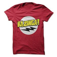 Bazinga - Funny T-Shirt Short Sleeve 100% Cotton Big Bang Theory Sheldon Cooper