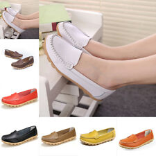 Women Moccasin-gommino Slip On Flat Loafers Casual Driving Vintage Shoes 7Colors