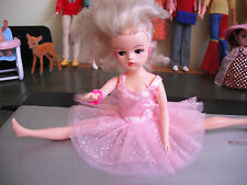 vintage SINDY doll with ballerina outfit earrings bracelets 1980's ?masquerade