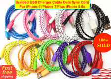 Braided USB Charger Cable Data Sync Cord For iPhone 6 iPhone 7 Plus iPhone 5 6s