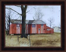 AMERICANA BARN by Billy Jacobs 16x20 FRAMED ART PRINT PICTURE Red Flag Patriotic
