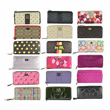 NWT  Coach Signature Zip Around Long Accordion Wallet Pick a Design