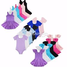 Girls Kids Gymnastics Dance Dress Ballet Tutu Skirt Dress Up Dancewear Costume