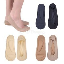 2 Pair Womens No Show Nylon Socks Arch Support Cushion Socks Low Cut Boat Short
