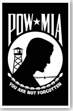 You Are Not Forgotten POW MIA Patriotic Poster Free Shipping