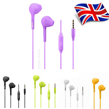 Noise Isolating Handsfree Headphones Earphones Earbud with Mic remote Colourful