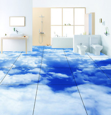 3D Blue Sky Cloud 470 Floor WallPaper Murals Wall Print 5D AJ WALLPAPER AU Lemon
