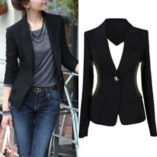 Women's One Button Slim Casual Business Blazer Suit Jacket Coat Outwear Tops new