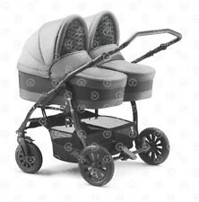 Double Twin Stroller Baby Pram Travel System 3in1 Twins Buggy Own Set up