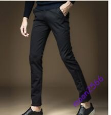 Men Korean Slim Fit Straight Pants Dress Pants Plus Size Casual Trousers Fashion
