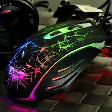 7 Colors LED Backlit Optical Gaming Mouse Ergonomic USB Wired Mouse Mice Lot PR