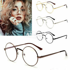 Unisex Round Clear lens Vintage Retro Geek Vintage Aviator Fashion Glasses Frame