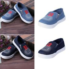 Toddlers Kids Boys Girls Cowboy Canvas Prewalker Loafter Casual Sneakers Shoes