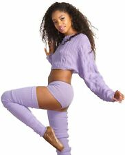 Slouchy Sexy Crop Sweater / Dancewear Outfit / Super Long Leg Warmers / Low Rise