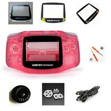 NEW GBA Nintendo Game Boy Advance Replacement Housing Shell Screen Lens Pink!
