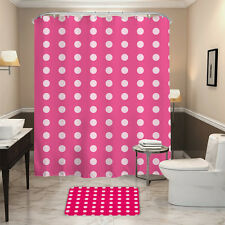 HALLO Red Bottom White Dots Style Waterpro of Polyester Fabric Shower Curtain