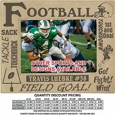 Personalized Football Picture Frames Custom Laser Engraved Sports Gifts Awards