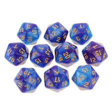 10PCS D20 Polyhedral Dice 20 Sided Dice for Dungeons and Dragons DND RPG MTG