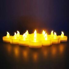 Novelty Place LED Tea Light Flickering Flameless Candle Battery Operated 12/24PC