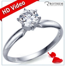 1/2 CT G SI2 14K White Gold Round Solitaire Diamond Engagement Ring 102HGGN