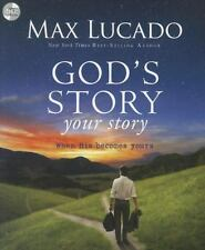 """""""Max Lucado"""" God's Story Your Story When His Becomes Yours 3-Audio CD's - New"""