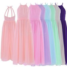 Girls Pageant Dress Flower Princess Wedding Bridesmaid Birthday Party Prom Dress
