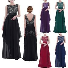 Womens V-back Evening Party Dress Lace Cocktail Bridesmaids Formal Prom Gowns